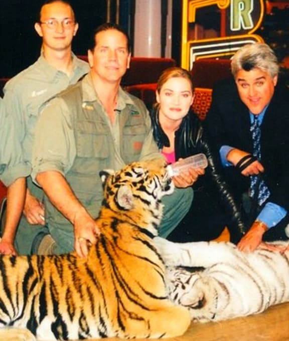 Kate Winslet's only appearance with the tiger cubs.